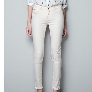 Zara Woman Slim Fit Coated Skinny Jeans